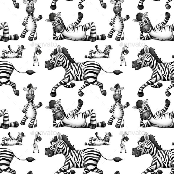 GraphicRiver Seamless Zebra 10827986
