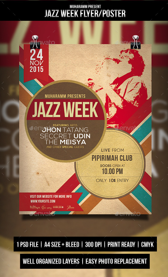 GraphicRiver Jazz Retro Flyer Poster 10771243