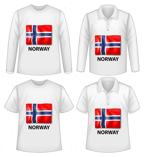 GraphicRiver Norway Shirt 10828120