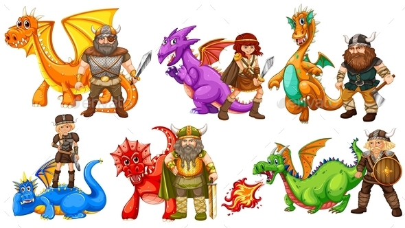 GraphicRiver Vikings and Dragons 10829104