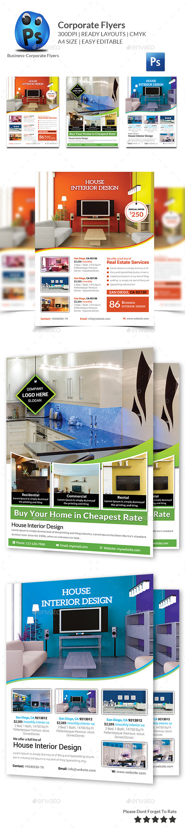 GraphicRiver Corporate Business Flyer Template 10829548