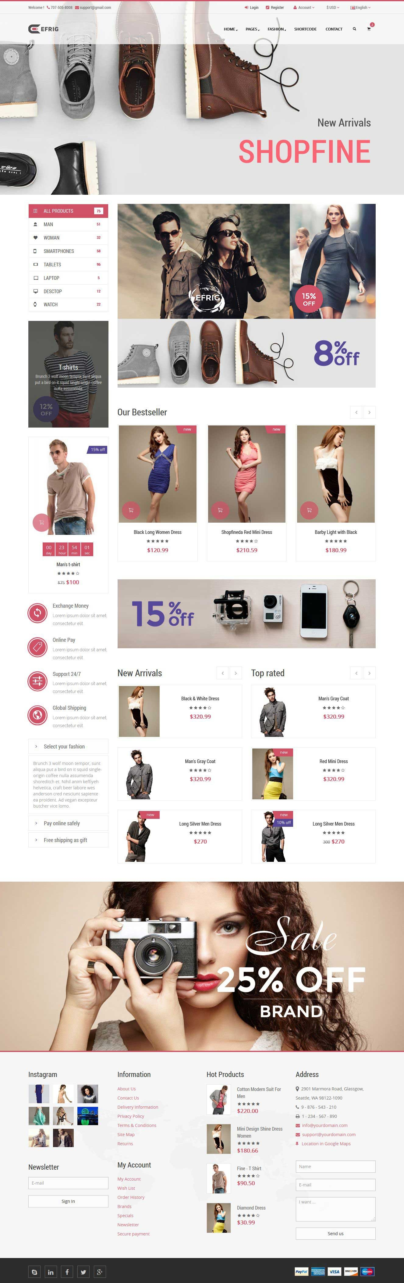 Shopfine - Responsive E-Commerce Template