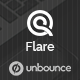 Flare - Unbounce Startup Landing Page - ThemeForest Item for Sale