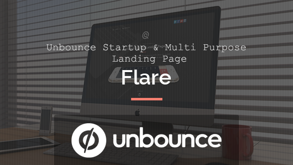 ThemeForest Flare Unbounce Startup Landing Page 10830058