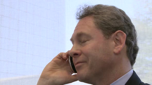 Businessman On Phone Call 1 Of 4