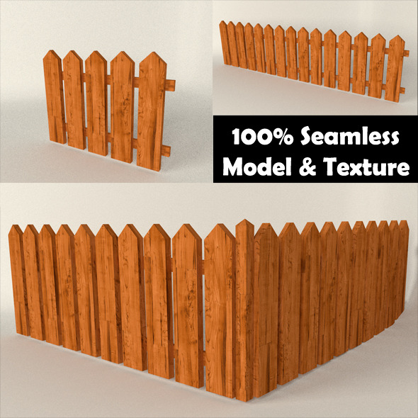 3DOcean Wood Fence 10830960