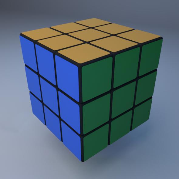 Rubic Cube (Standard + MentalRay Material)  - 3DOcean Item for Sale