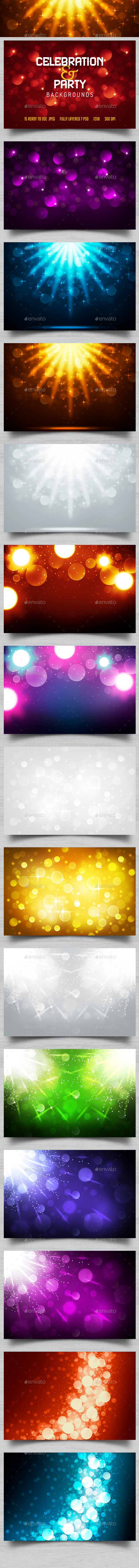 GraphicRiver Party & Celebration Backgrounds 10832131