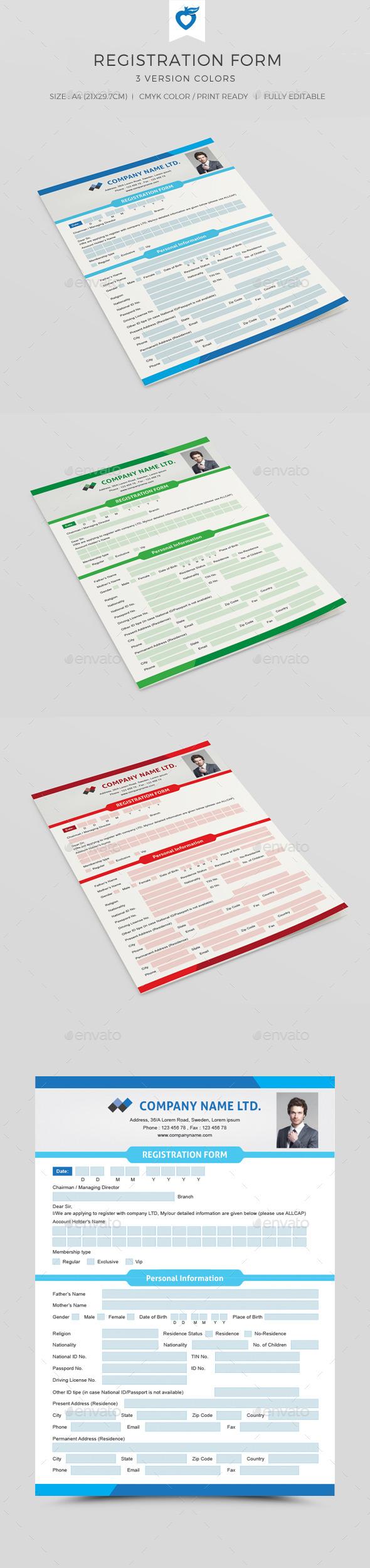 GraphicRiver Registration Form 10832137
