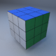 Rubic Cube Low Poly (MentalRay Material) - 3DOcean Item for Sale