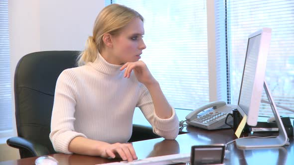 Professional Female Working At Her Desk 5 Of 15