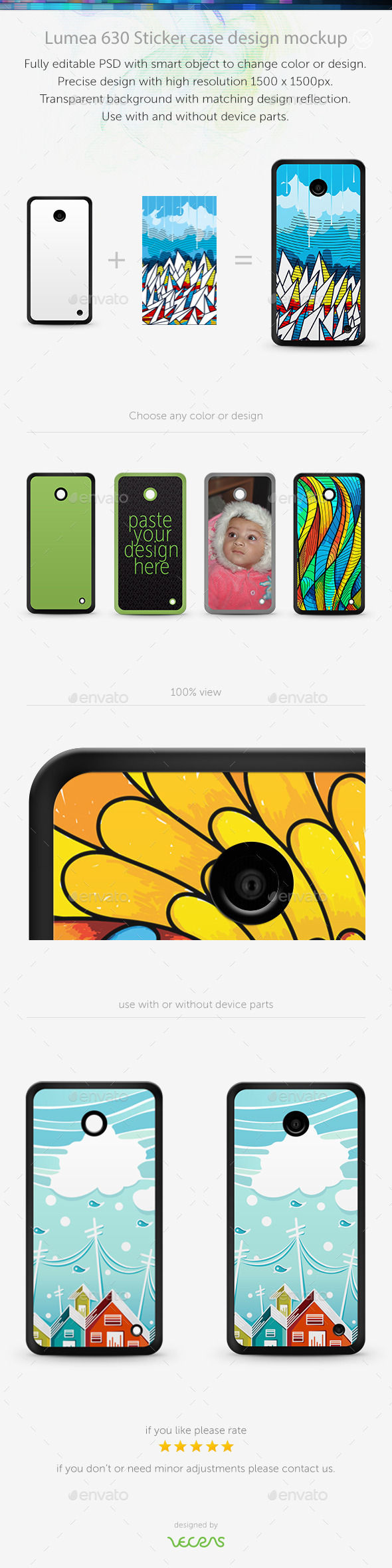 GraphicRiver Lumea 630 Sticker Case Design Mockup 10832564