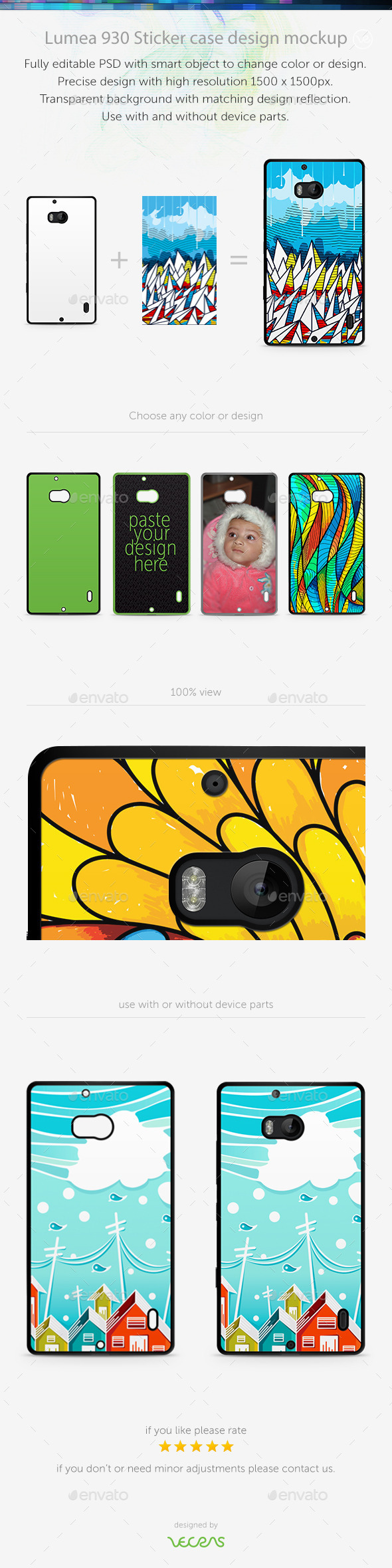 GraphicRiver Lumea 930 Sticker Case Design Mockup 10832575