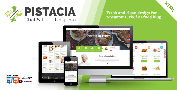 ThemeForest Pistacia Chef & Food HTML5 Template 10800108