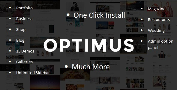 ThemeForest Optimus Multi-Concept WordPress Theme 10614549