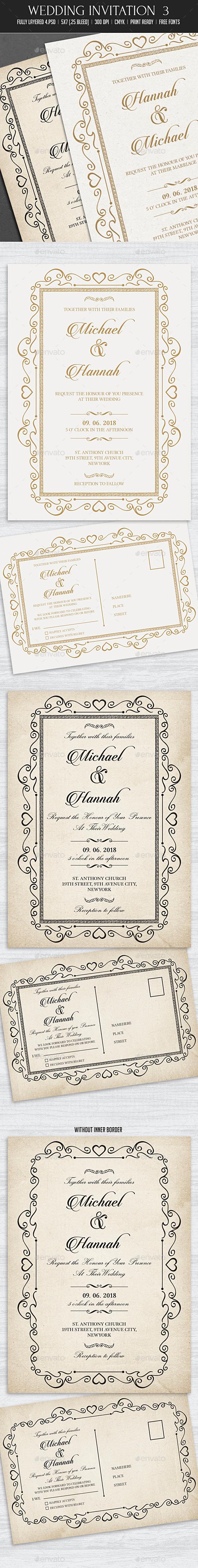 GraphicRiver Wedding Invitation 3 10832670