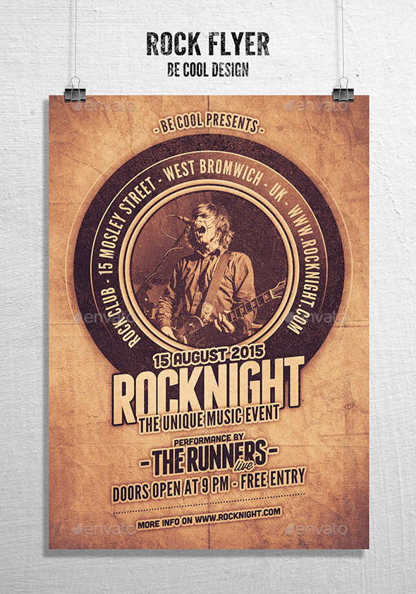 GraphicRiver Rock Flyer Poster 10832757