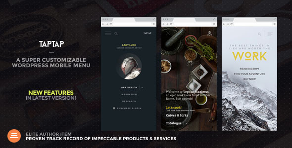 Download TapTap: A Super Customizable WordPress Mobile Menu nulled download