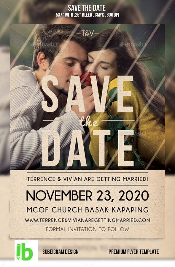 GraphicRiver Save The Date Flyer 10761241