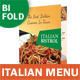 Italian Restaurant Bifold / Halffold Menu - GraphicRiver Item for Sale