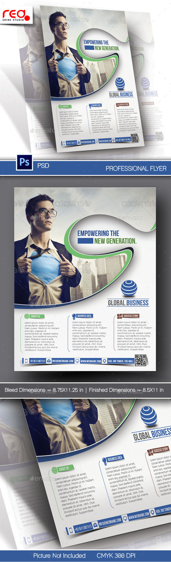 GraphicRiver Corporate Business Flyer & Poster Template 10833524