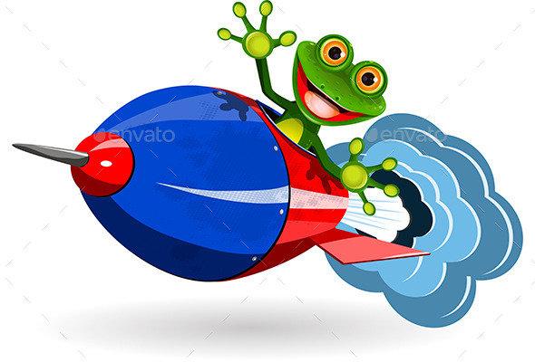 GraphicRiver Frog in a Rocket 10833635