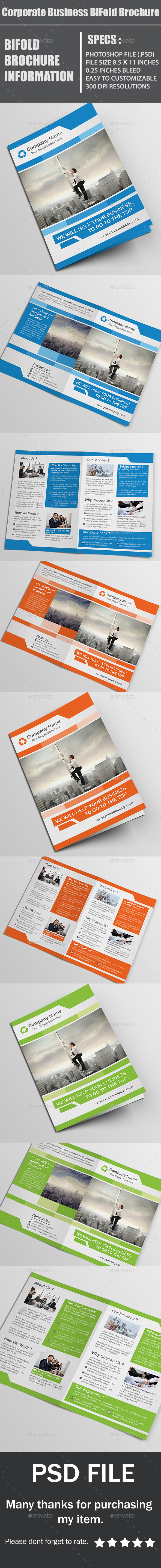 GraphicRiver Corporate Business BiFold Brochure 10833650