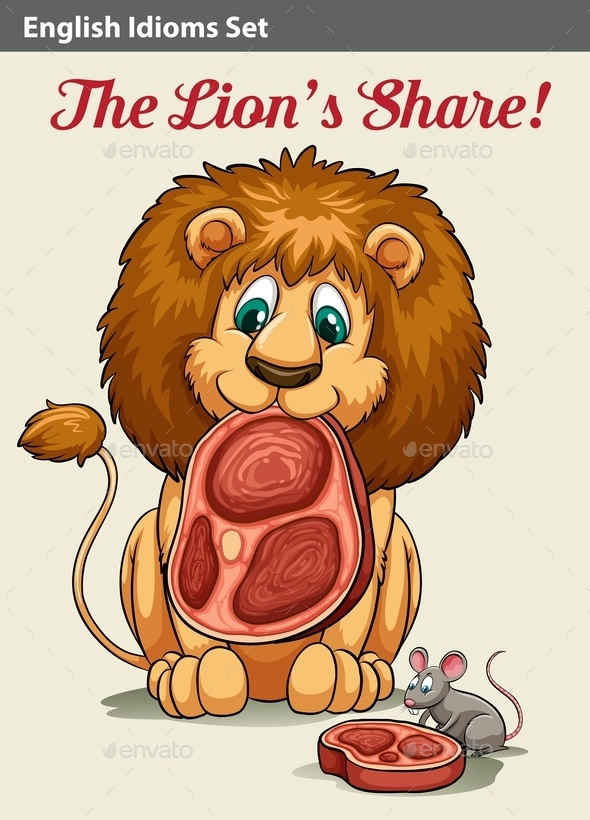 GraphicRiver Lion Eating 10833663