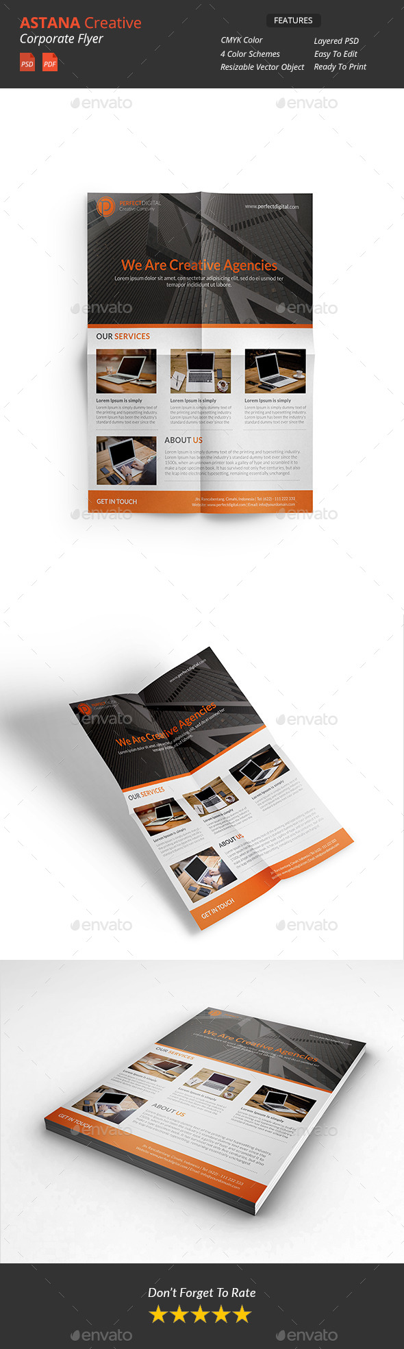 GraphicRiver Astana Creative Corporate Flyers 10833677