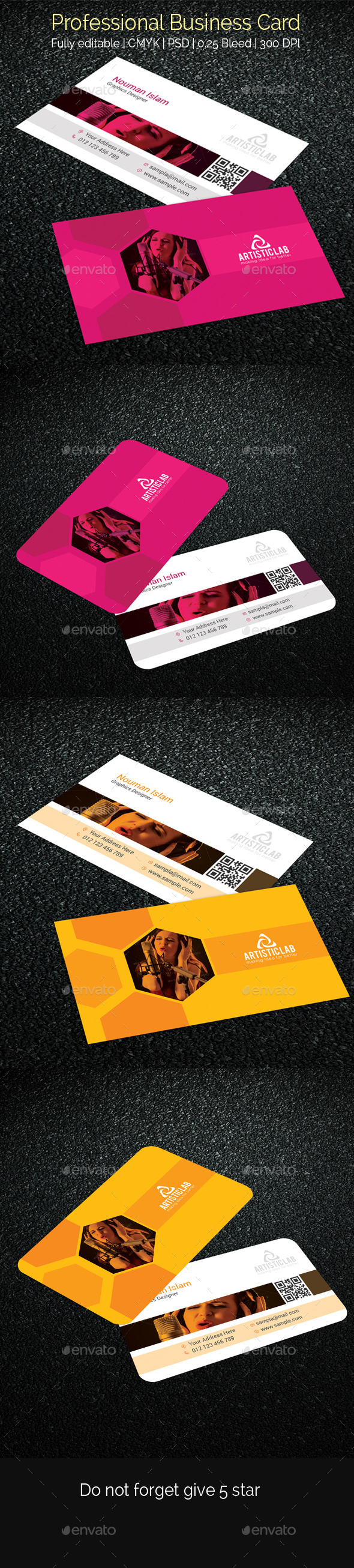 GraphicRiver Professional Business Card 10833713