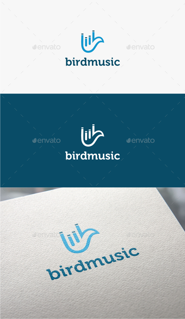 GraphicRiver Bird Music Logo Template 10833774