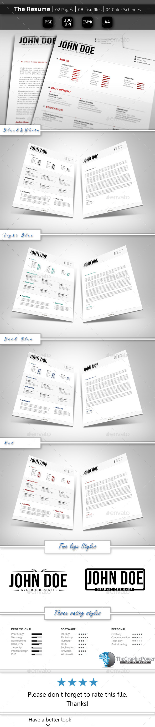 GraphicRiver The Resume 10774312