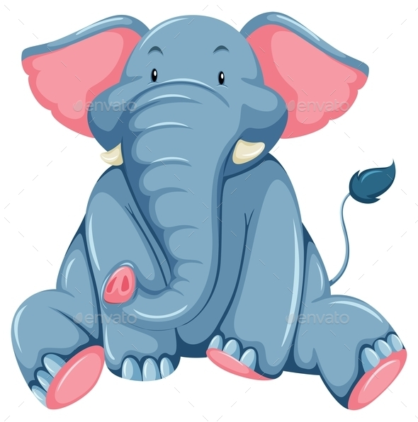 GraphicRiver Young Elephant 10833817