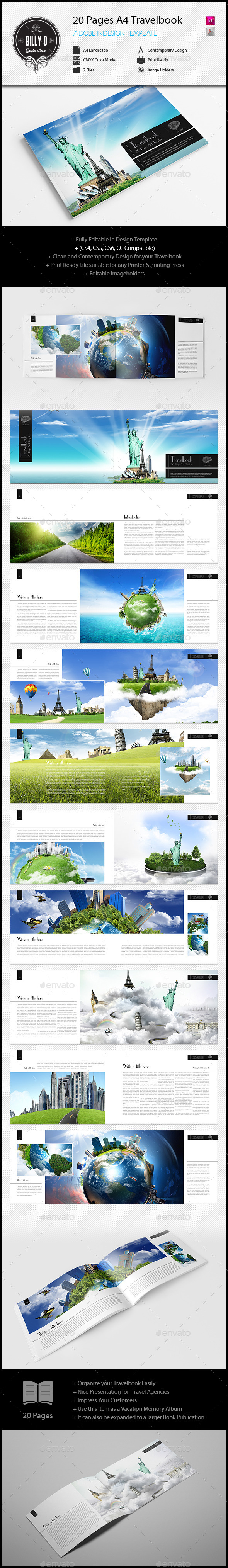 GraphicRiver 20 Pages A4 Travelbook Template 10833859