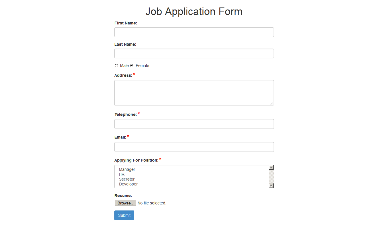 all in one simple ajax php forms by tahadaf codecanyon 04 job application form png