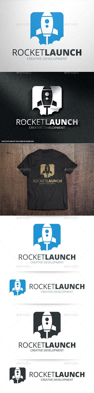 GraphicRiver Rocket Launch Logo Template 10834004