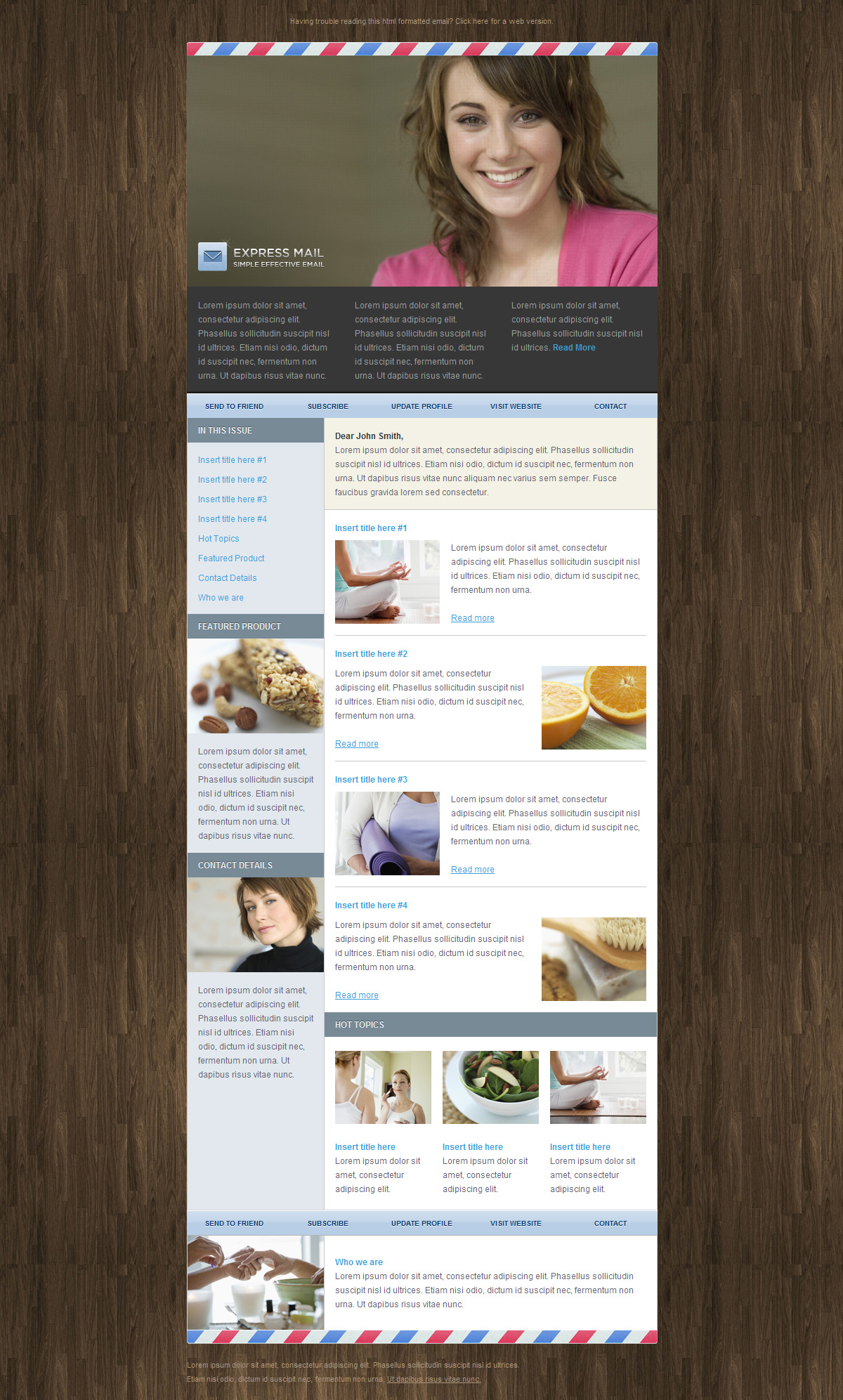 Express Mail Newsletter Template (5 Themes) - Screenshot 03 - Wood