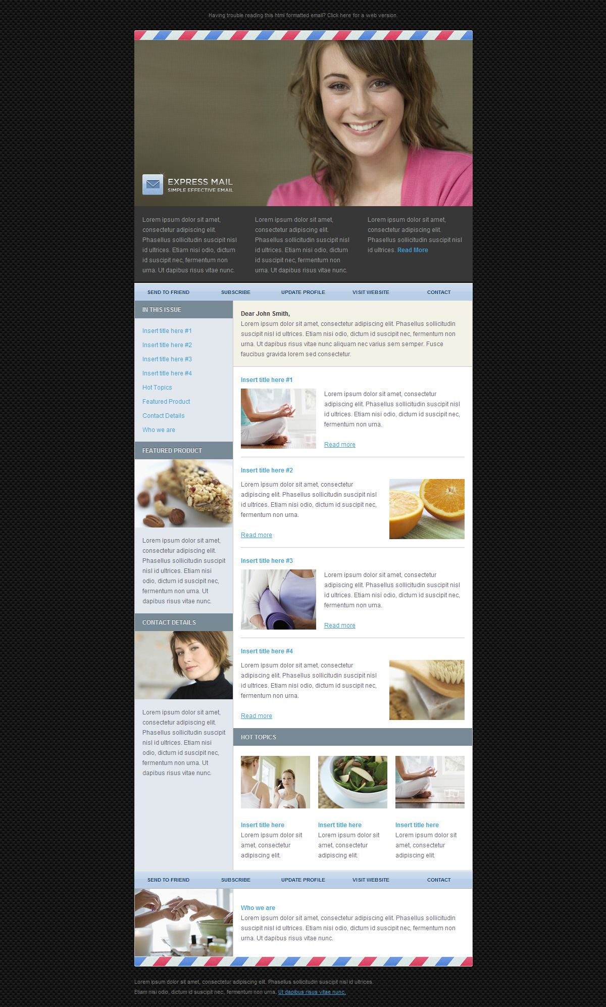 Express Mail Newsletter Template (5 Themes) - Screenshot 05 - Sleek