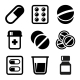 Pills and Capsules Icons Set - GraphicRiver Item for Sale