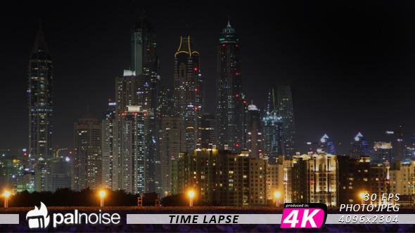 Dubai Skyline From The Palm