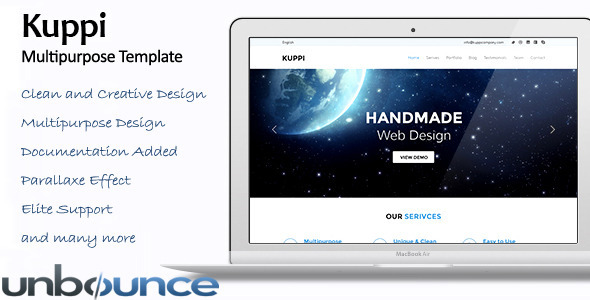 ThemeForest Kuppi Multipurpose Unbounce Template 10834161