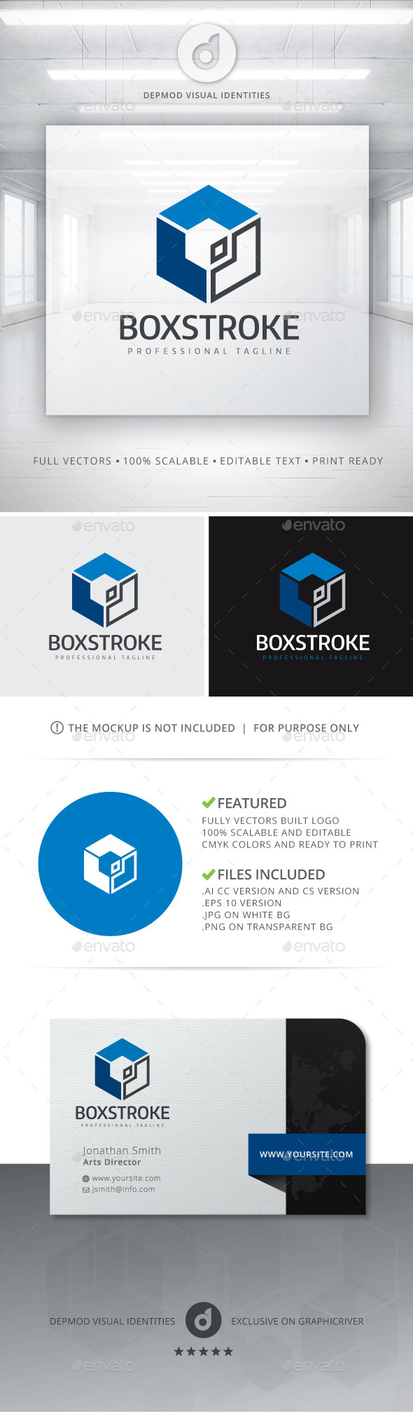 GraphicRiver Box Stroke Logo 10834407