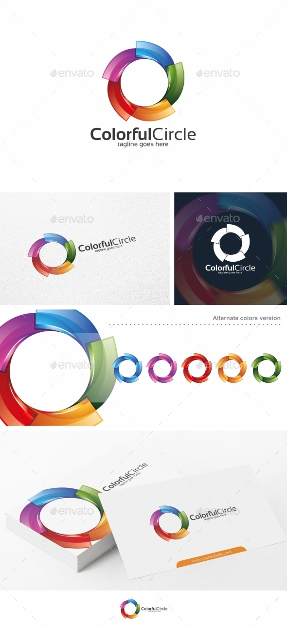 GraphicRiver Colorful Circle Spiral Logo Template 10834573