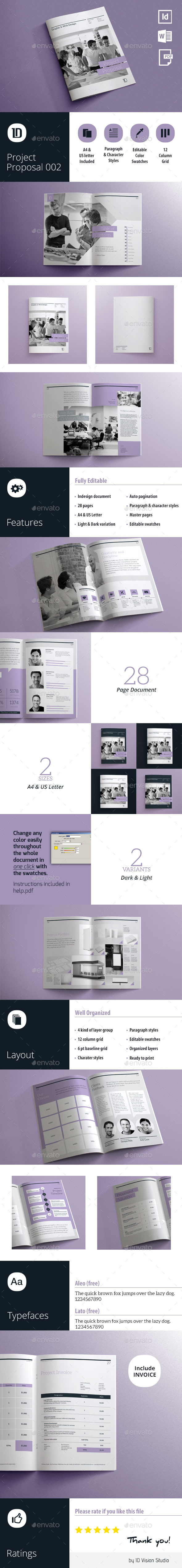 GraphicRiver Project Proposal Template 10834634