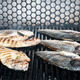 cooking fish on the grill in the restaurant - PhotoDune Item for Sale