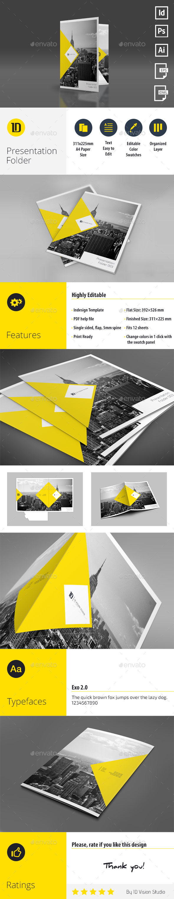 GraphicRiver A4 Self Locking Multipurpose Presentation Folder 003 10834788