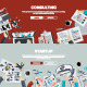 Flat Design Concepts on Business Topic - GraphicRiver Item for Sale
