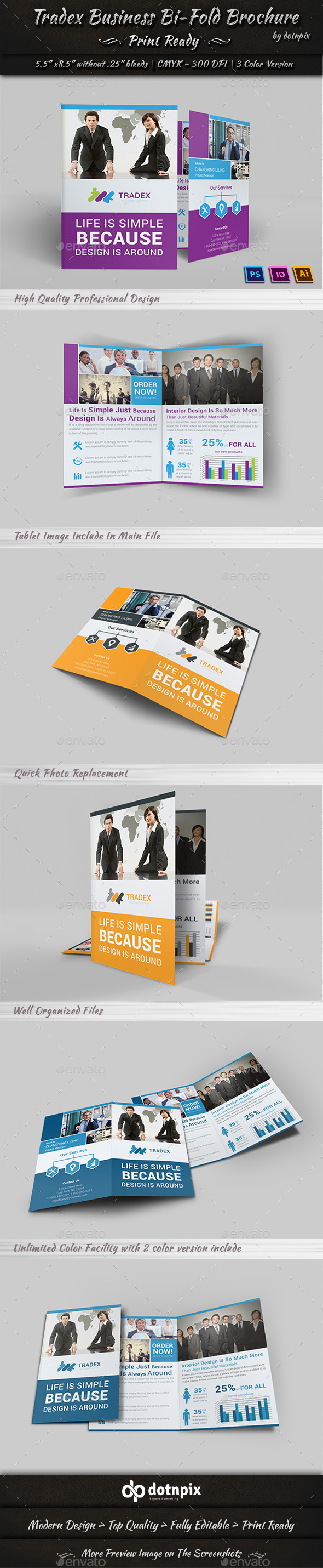 GraphicRiver Tradex Business Bi-Fold 10835081