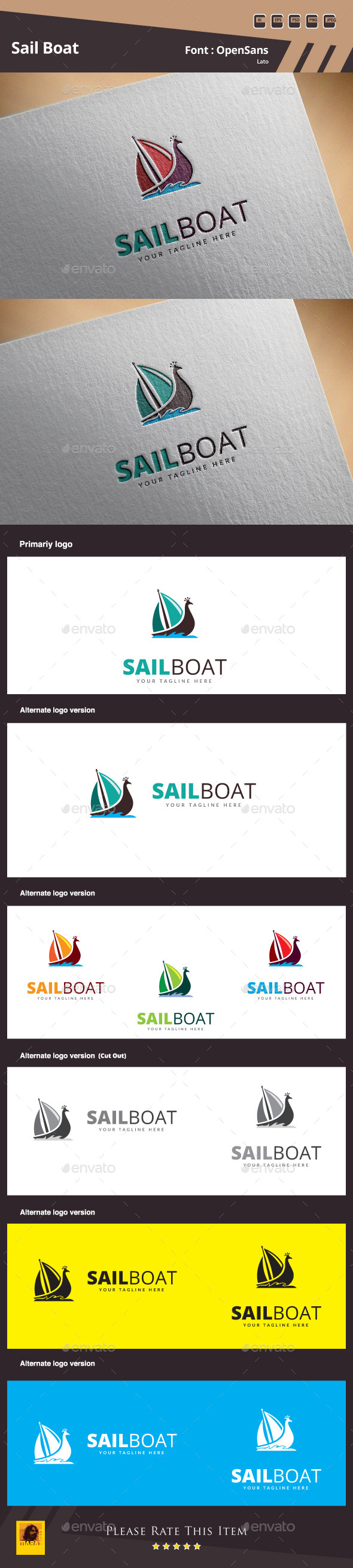 GraphicRiver Sail Boat Logo Template 10835205