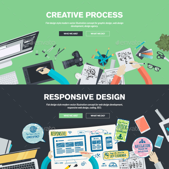 GraphicRiver Flat Design Concepts for Graphic and Web Design 10835207